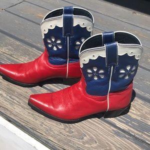 Tony Lama All American RWB Mid Calf Boots SZ 6.5B